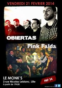 Obiertas en concert avec Pink Falda